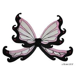 Ailes de fée papillon à paillettes rose et noir