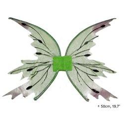 Ailes de fée papillon en tissu fin vert clair