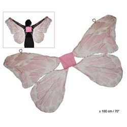 Ailes de papillon couleur rose 1m80