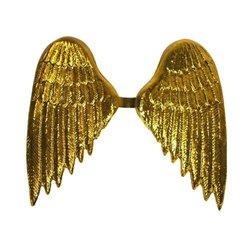 Ailes d'ange dorées en plastique 35cm