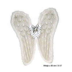 Ailes d'ange avec fourrure blanche 80cm