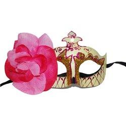 Masque vénitien avec fleur