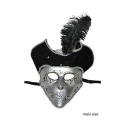 Masque vénitien avec chapeau