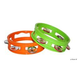 Tambourin plastique vert ou orange