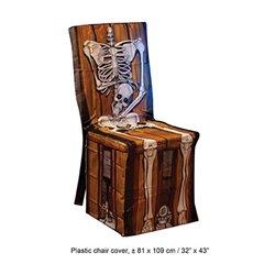 Housse de Chaise en Plastique à Motif Squelette