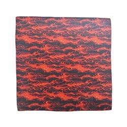 Bandana noir à flammes rouges