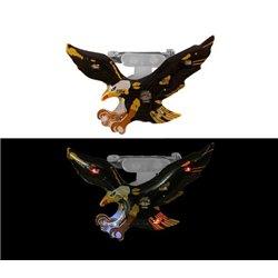 Badge Led Aigle de Couleur Noir