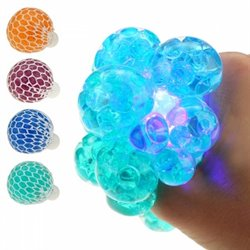 Balle Quetschball Flutschi lumineuse LED Mix 6cm