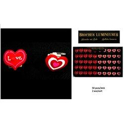 Badge LED Coeur aux Différents Modèles