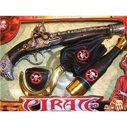 Set pirate avec pistolet longue-vue et 2 accessoires