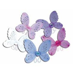 Ailes de fée papillon à fleur