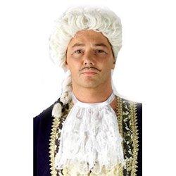 Jabot de magistrat avec élastique blanc