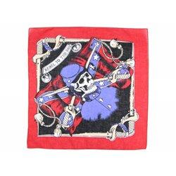Bandana à tête de mort et sabres bleu