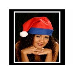 Bonnet Rouge avec Bordure de Couleur Bleu
