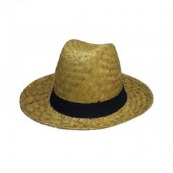 Chapeau Panama en Paille avec Ruban Noir Style Look Stylé