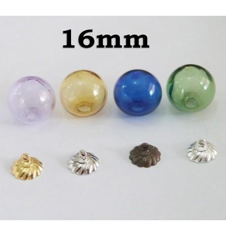 Globe en verre de couleur 16 mm