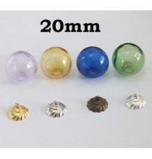 Globe en verre de couleur 20 mm