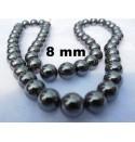 Perles hématite noir 8 mm