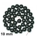 Perles hématite noir 10 mm