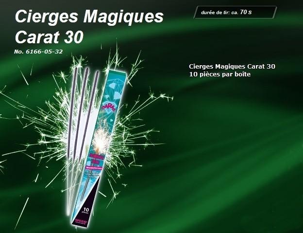 Lot de 10 Cierges Magiques 70 secondes et 30 cm