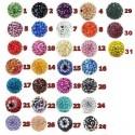 Perles shamballa strass 10 mm