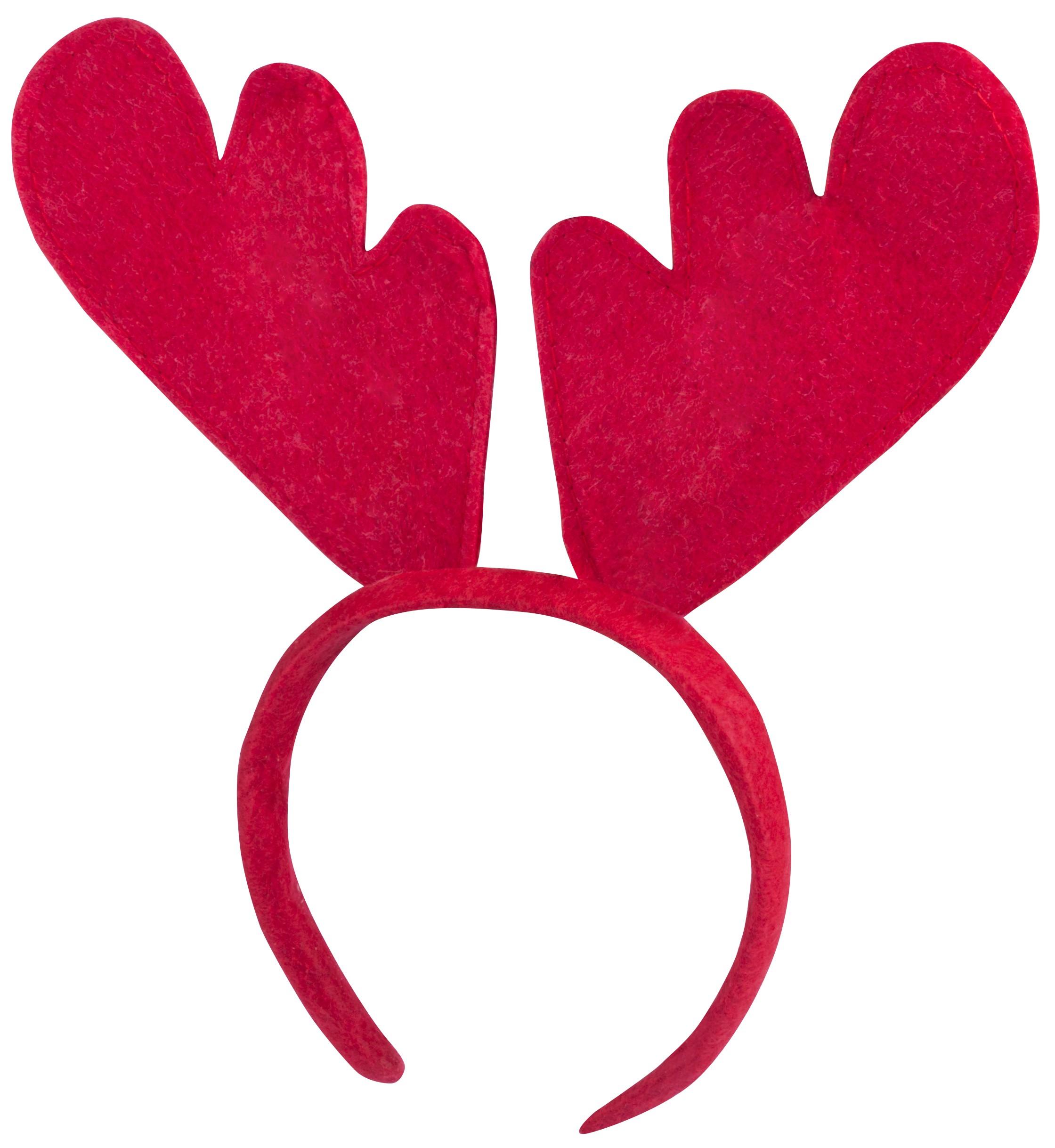 Serre-tête Cornes de renne Rudolph en feutrine