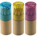 Boite de 12 crayons de couleurs avec taille-crayons