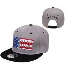 Casquette snapback New York Gris