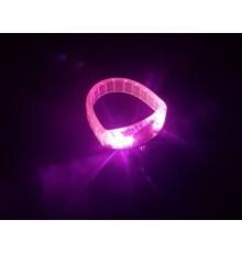 Bracelet lumineux plat à LED rose