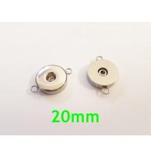 Connecteur bouton pression 20mm pour bijoux DIY