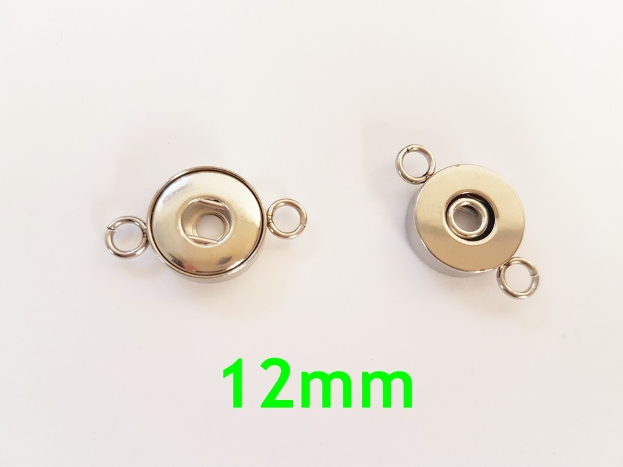 Connecteur bouton pression 12mm pour bijoux DIY