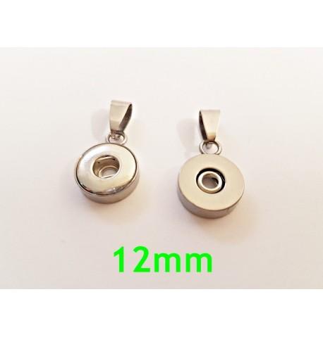 Pendentif simple 12mm bouton pression