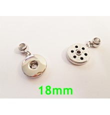 Pendentif simple 18mm bouton pression