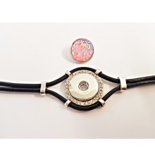 Bracelet pour bouton pression en cuir
