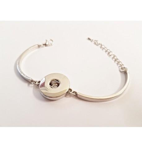 Bracelet mailles pour boutons pression