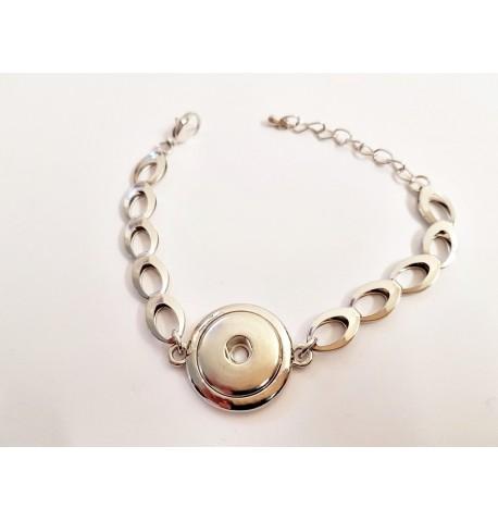 Bracelet mailles ovales pour bouton pression