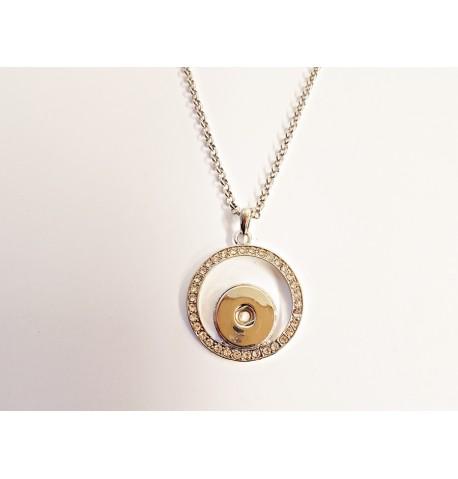 Collier cercle de strass pour boutons pression