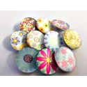 Lot de 10 boutons pression flowers 18mm