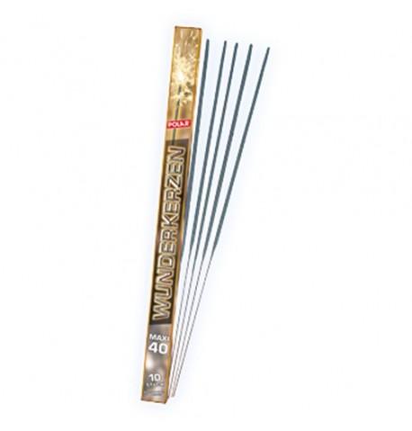 lot de 10 cierges magiques 120 sec 40 cm polar-40