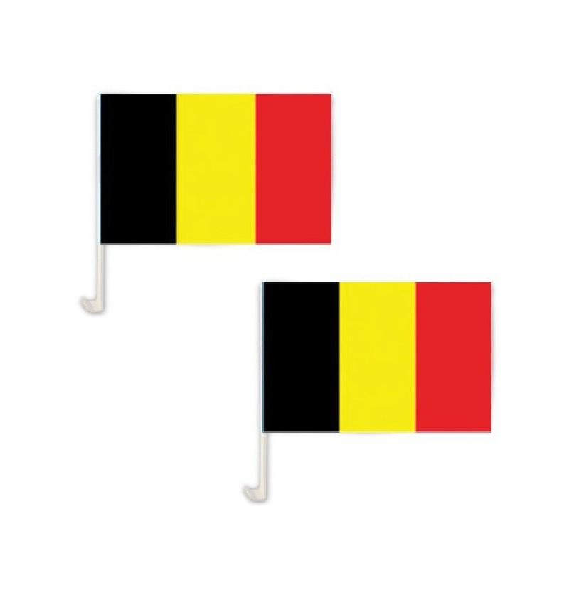 paire de drapeau belgique pour vitre noir jaune rouge. Black Bedroom Furniture Sets. Home Design Ideas