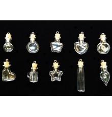 Lot de 10 pendentifs en verre à remplir