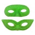 masque pvc loup � paillettes vert pastel