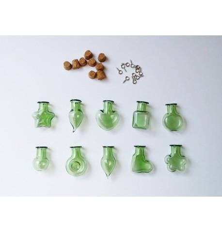 Fiole en verre coloré - Vert
