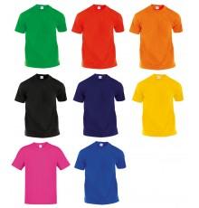 """T-Shirt Adulte Couleur """"Hecom"""" de Couleurs Différentes"""