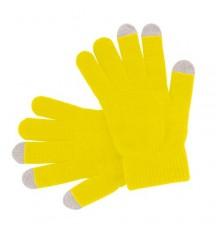 """Gant tactile """"Actium"""" jaune"""