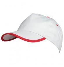 Casquette Estepona de Couleur Blanc et Rouge