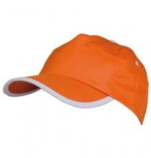 Casquette Estepona de Couleur Orange et Blanc