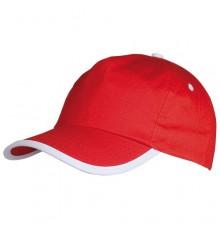 Casquette Estepona de Couleur Rouge et Blanc