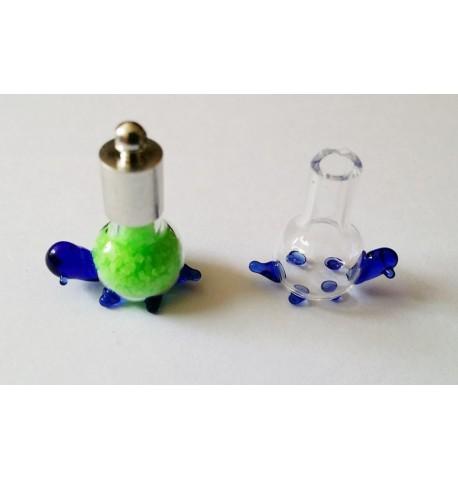 Pendentif tortue en verre à remplir