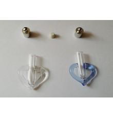 Pendentif coeur marin en verre à remplir